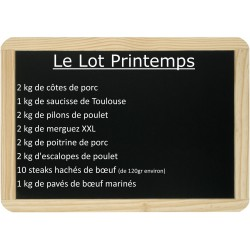 Le lot Printemps