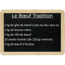 Le lot de bœuf Tradition