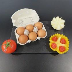 """Boîte de 6 œufs """"plein air"""""""