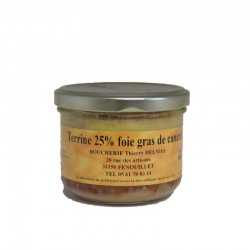 Terrine 25% foie gras de...